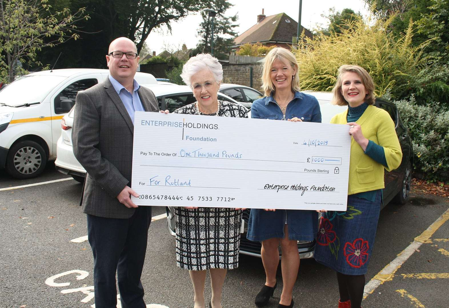 Car rental firm gives advice charity a boost