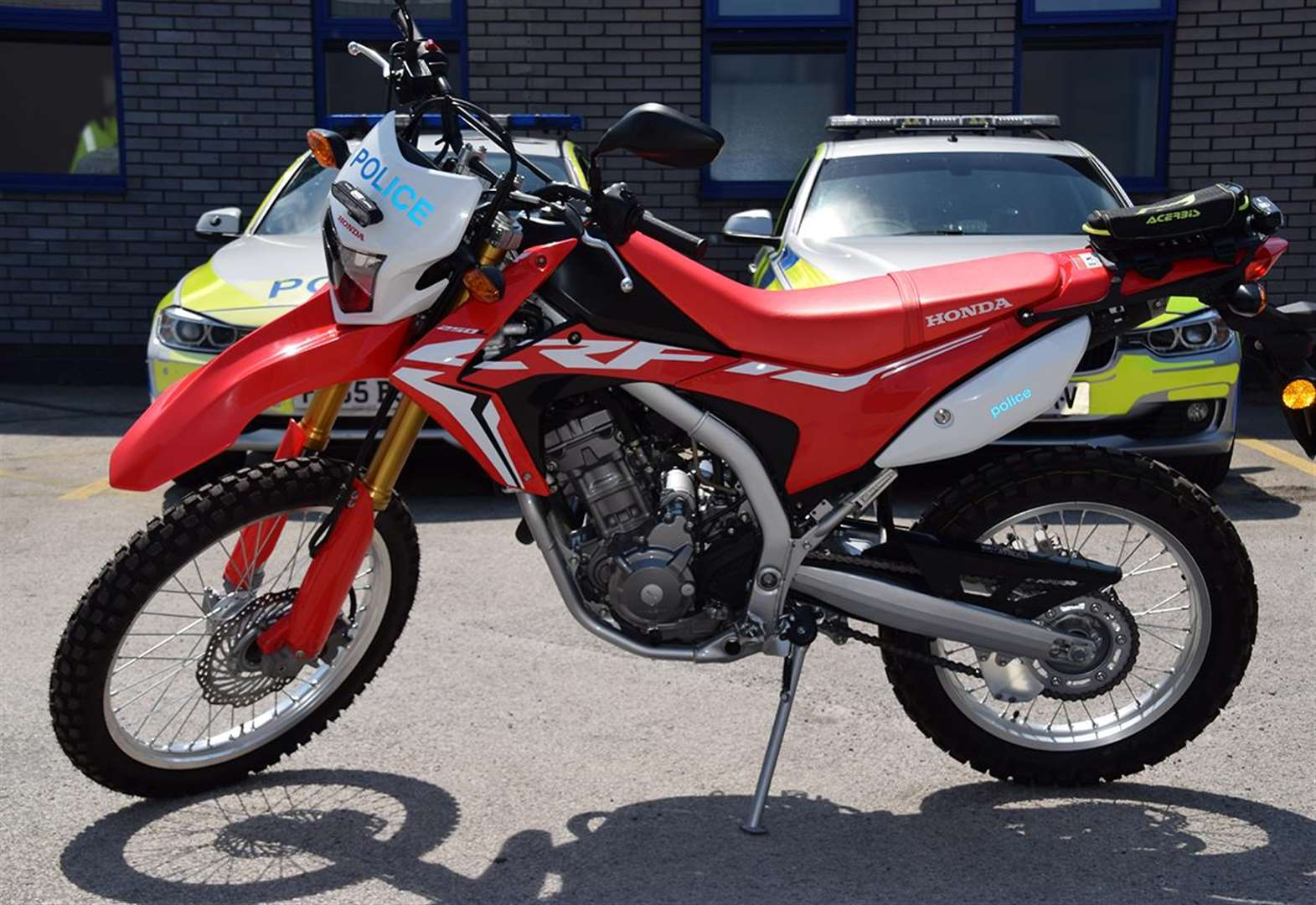 Police trial off road motorcycle to fight crime