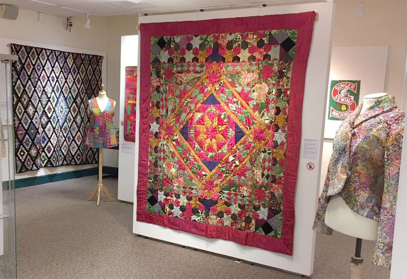 Museum-goers in stitches over patchwork exhibition