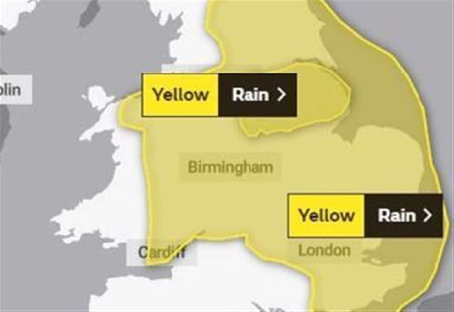 Met Office warns of heavy rain for area