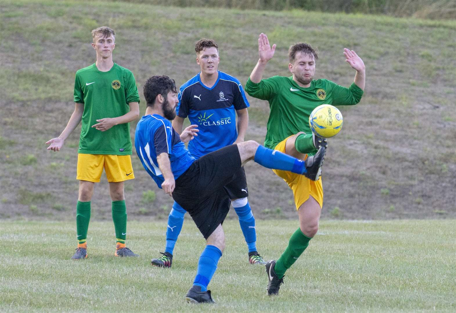 FOOTBALL: Duo bow out to higher level sides after battling cup displays