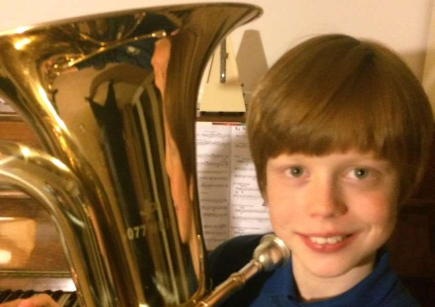 Olly - young tuba player accepted for NCO