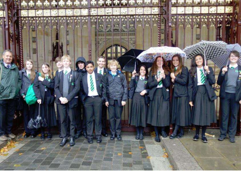 Catmose College pupils visit the Houses of Parliament