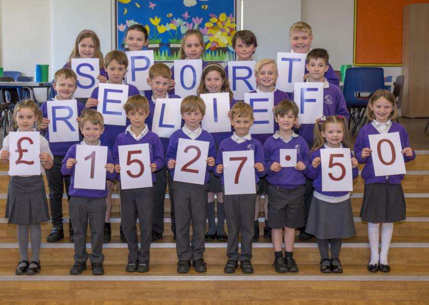 Pupils at Ryhall Academy raised more than �1,500 for Sport Relief. By Lee Hellwing.