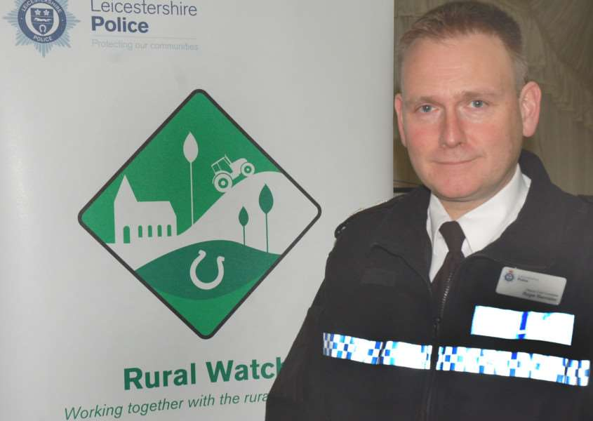 Leicestershire Police deputy chief constable Roger Bannister launched the new Rural Watch scheme as part of a multi-agency event held at Melton Cattle Market EMN-160223-180251001