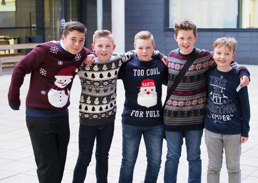 Catmose College Christmas jumpers day for RNIB